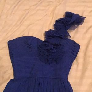 Royal Blue strapless BCBG cocktail dress